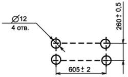 Установочные размеры Блоков резисторов БРПФ